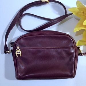 ETIENNE AIGNER Purple LEATHER Crossbody Bag